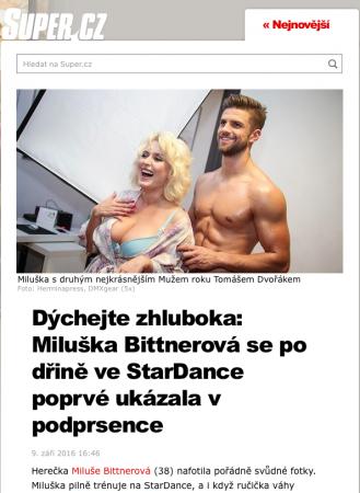 """Článek zde: <a href=""""https://www.super.cz/451563-dychejte-zhluboka-miluska-bittnerova-se-po-drine-ve-stardance-poprve-ukazala-v-podprsence.html"""">https://www.super.cz/451563-dychejte-zhluboka-miluska-bittnerova-se-po-drine-ve-stardance-poprve-ukazala-v-podprsence.html</a>"""